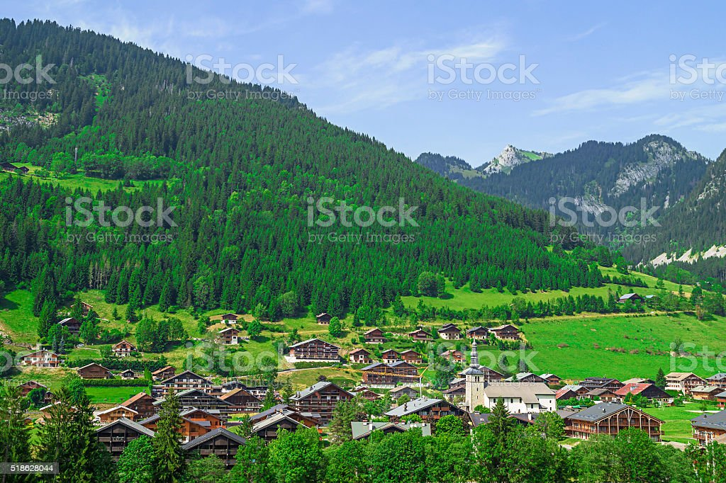 Chapelle-d'Abondance French village in the Alps stock photo