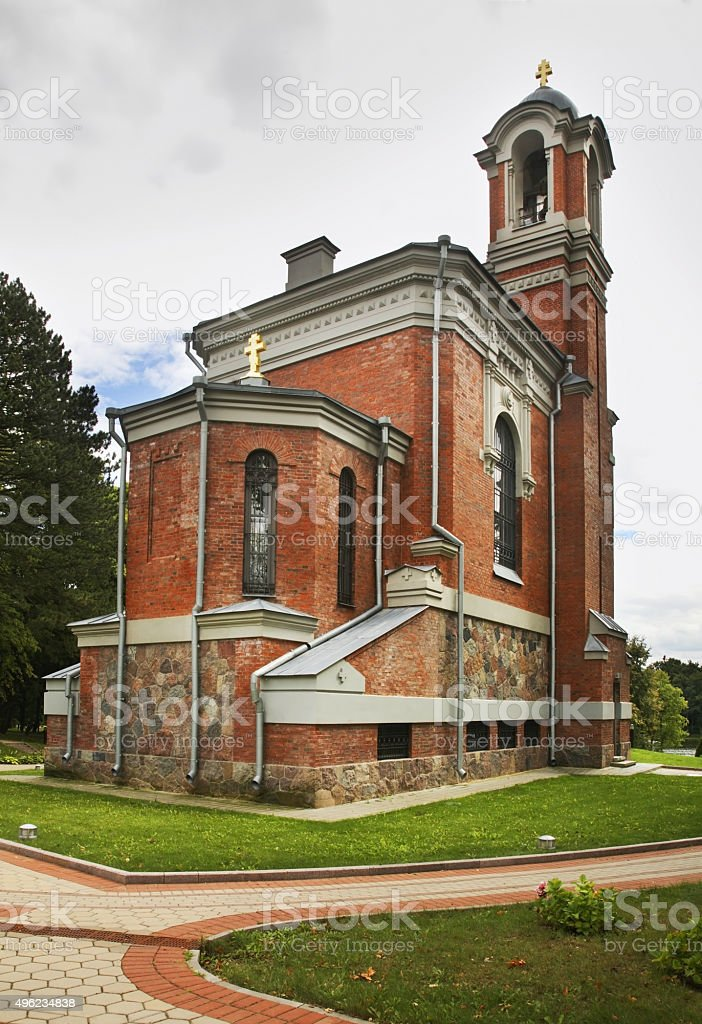 Chapel-tomb of Svyatopolk-Mirski near castle in Mir. Belarus stock photo