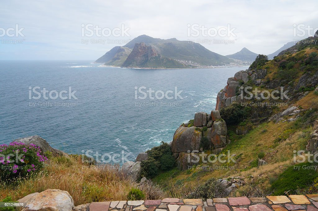 Chapman's peak drive in Cape Town, South Africa. stock photo