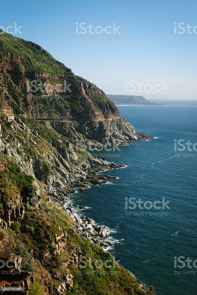 Chapman's Peak Drive in Capetown South Africa stock photo