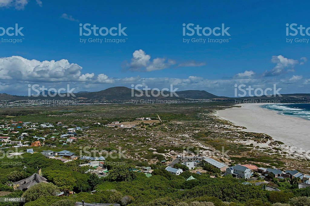 Chapman's Peak Drive. Noordhoek Beach. stock photo
