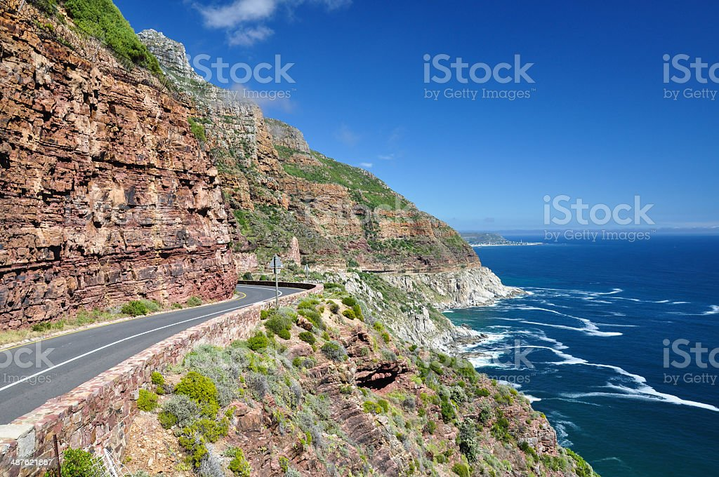 Chapman's Peak Drive - Western Cape, South Africa stock photo