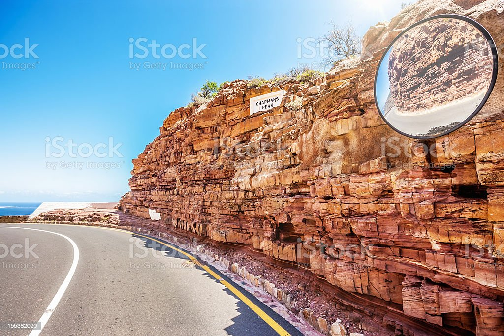 Chapman's Peak Drive Winding Road Cape Town stock photo