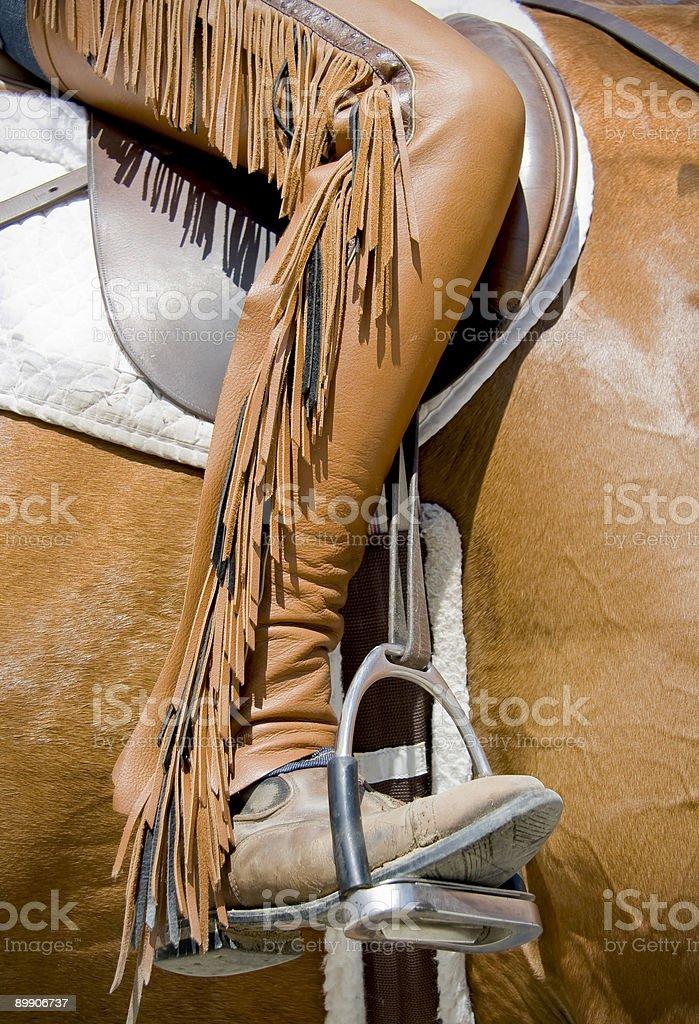 Chaps with fringe stock photo