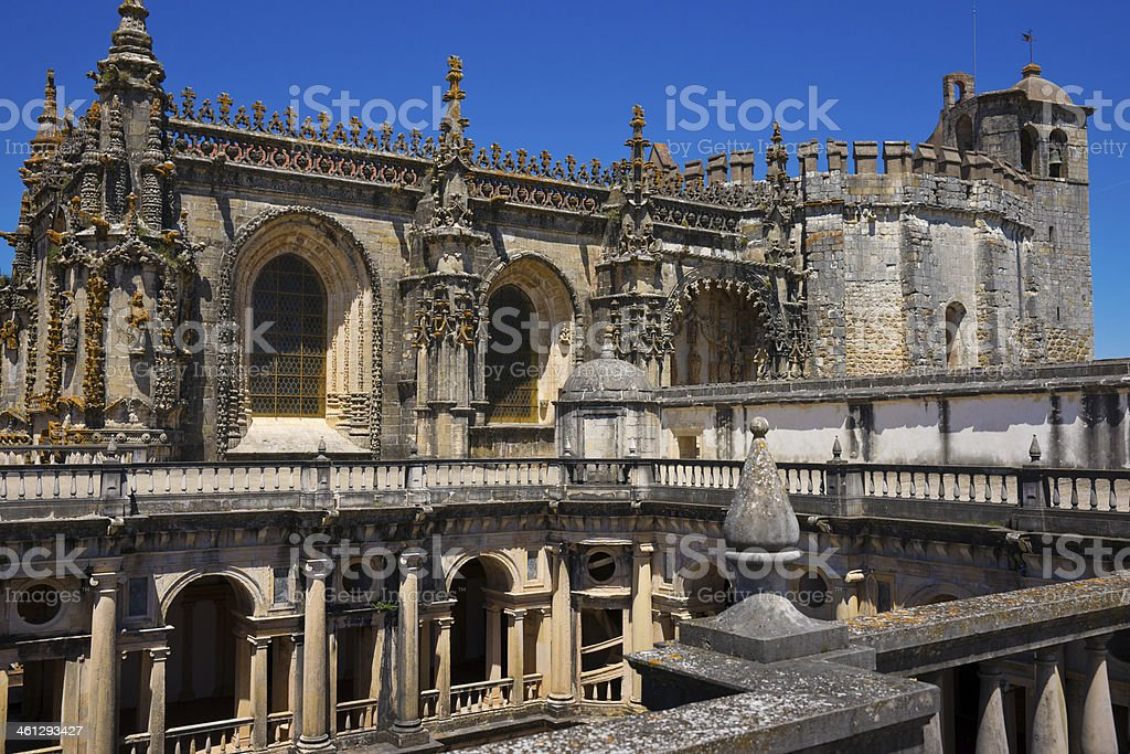 Chapter House Convent of Christ in Tomar, Portugal stock photo