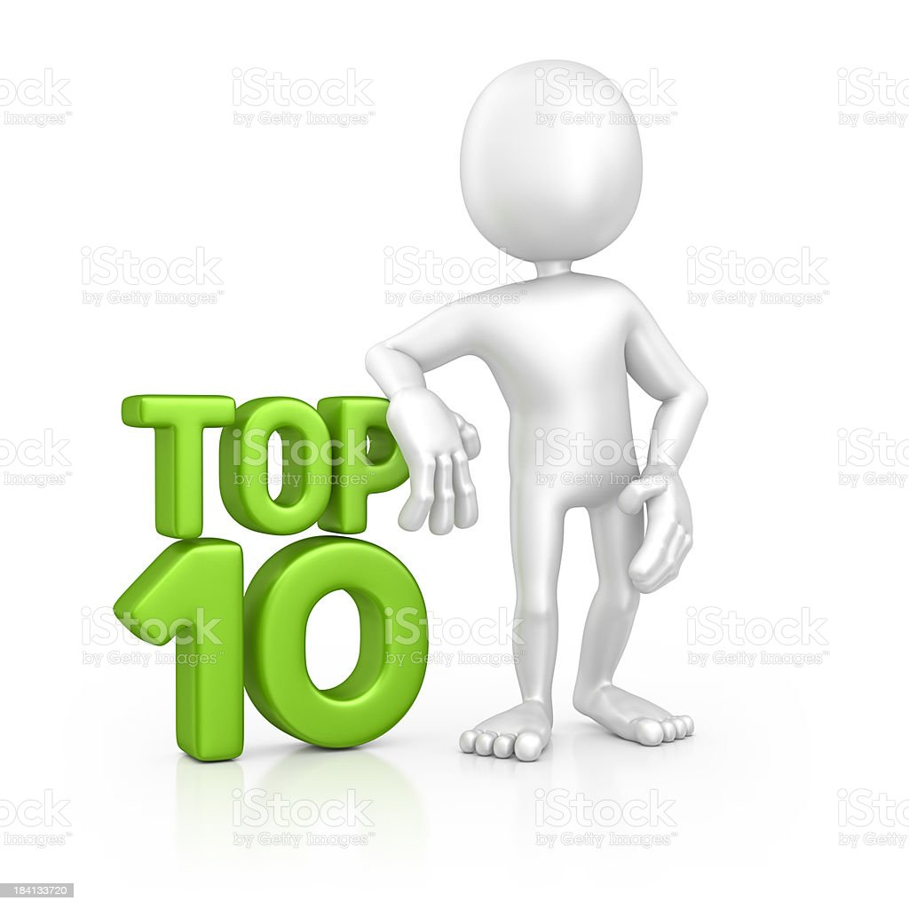 character and top ten stock photo
