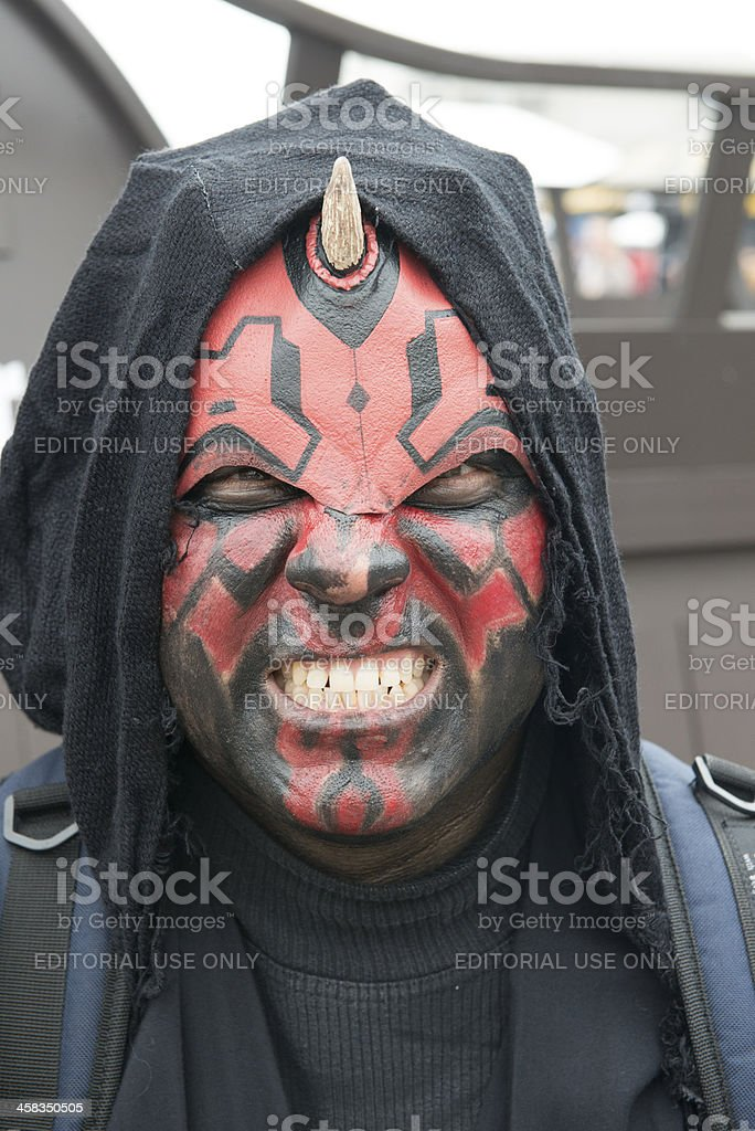 Character at Comic-con 2013 royalty-free stock photo