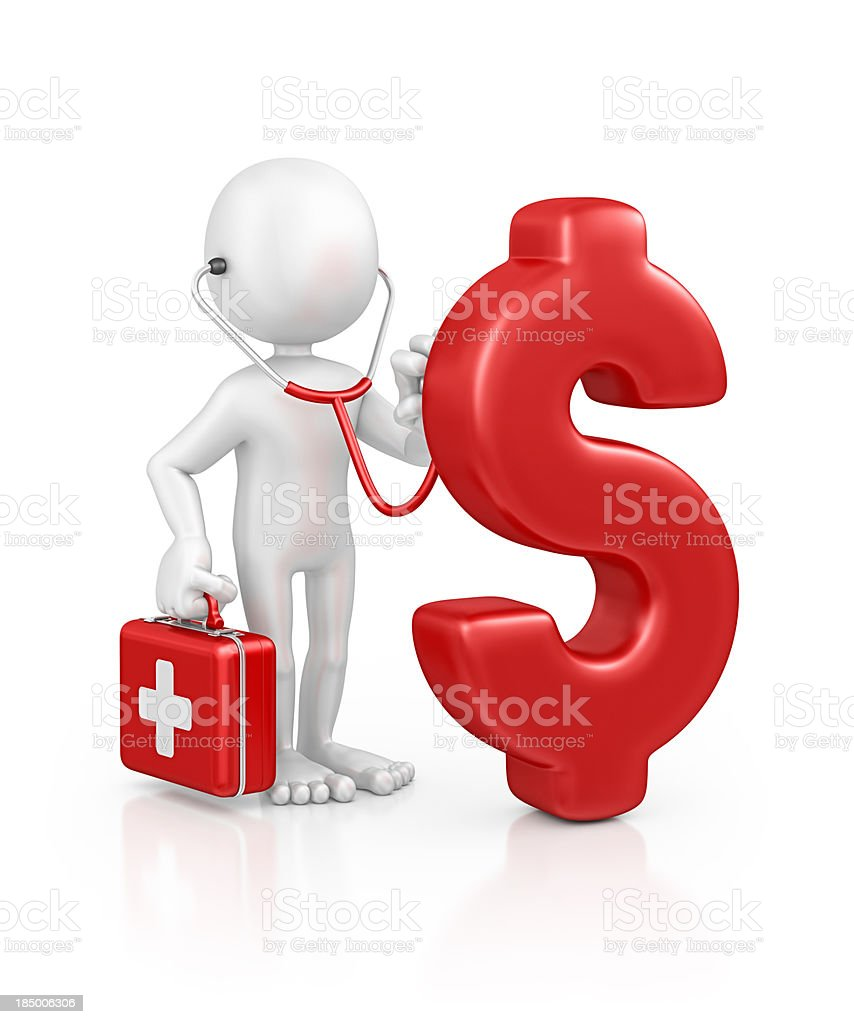 character doctor examine dollar royalty-free stock photo
