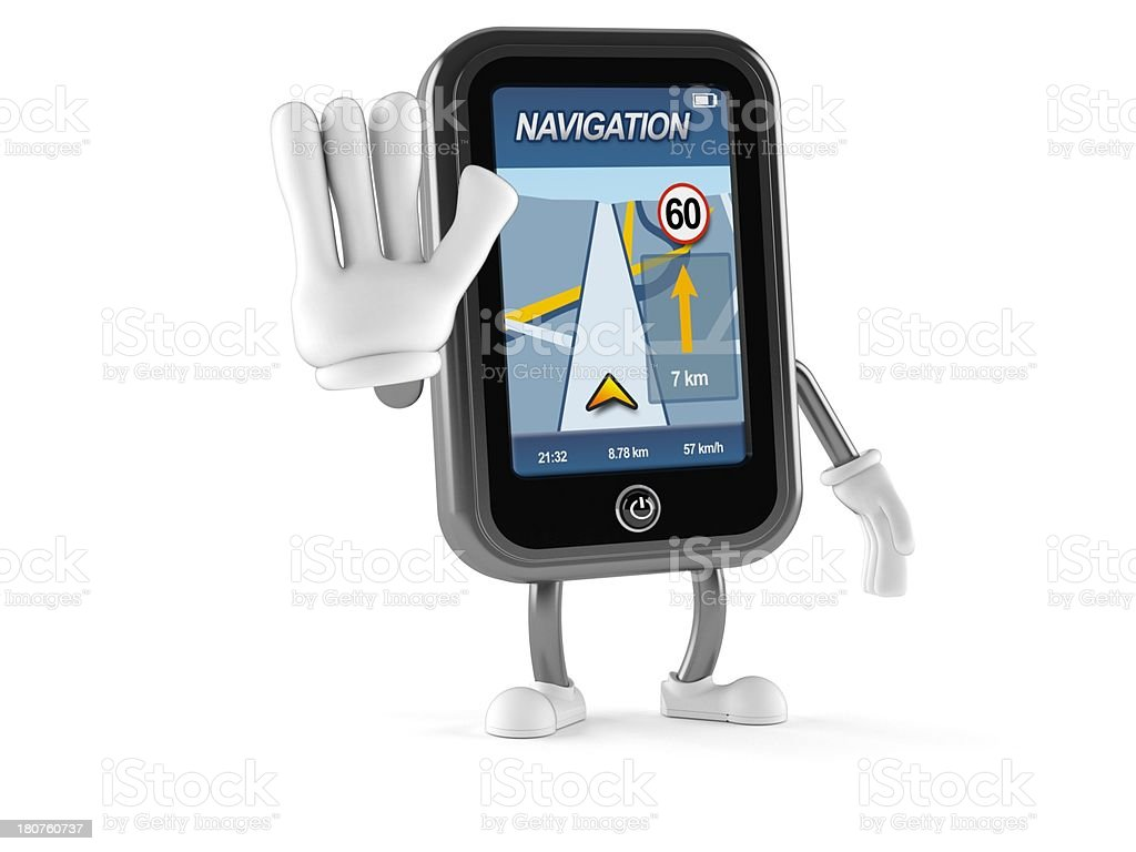 GPS character royalty-free stock photo