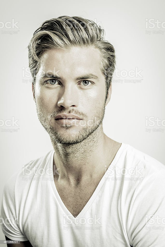 Character portrait - Handsome young man stock photo