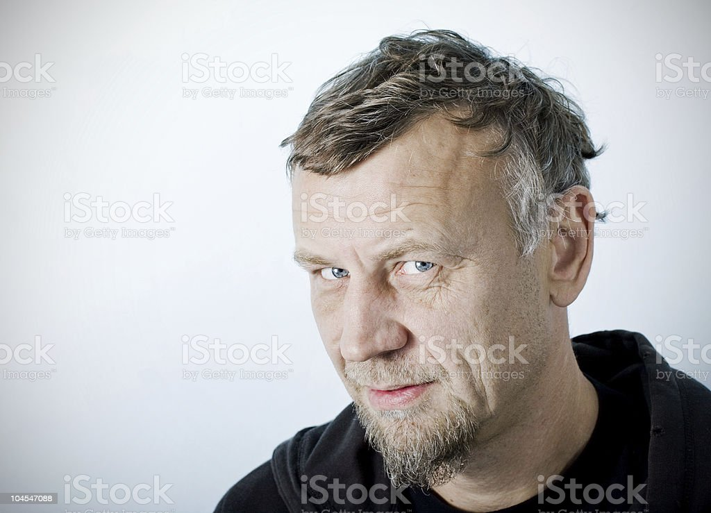 Character portrait of a man, real people stock photo