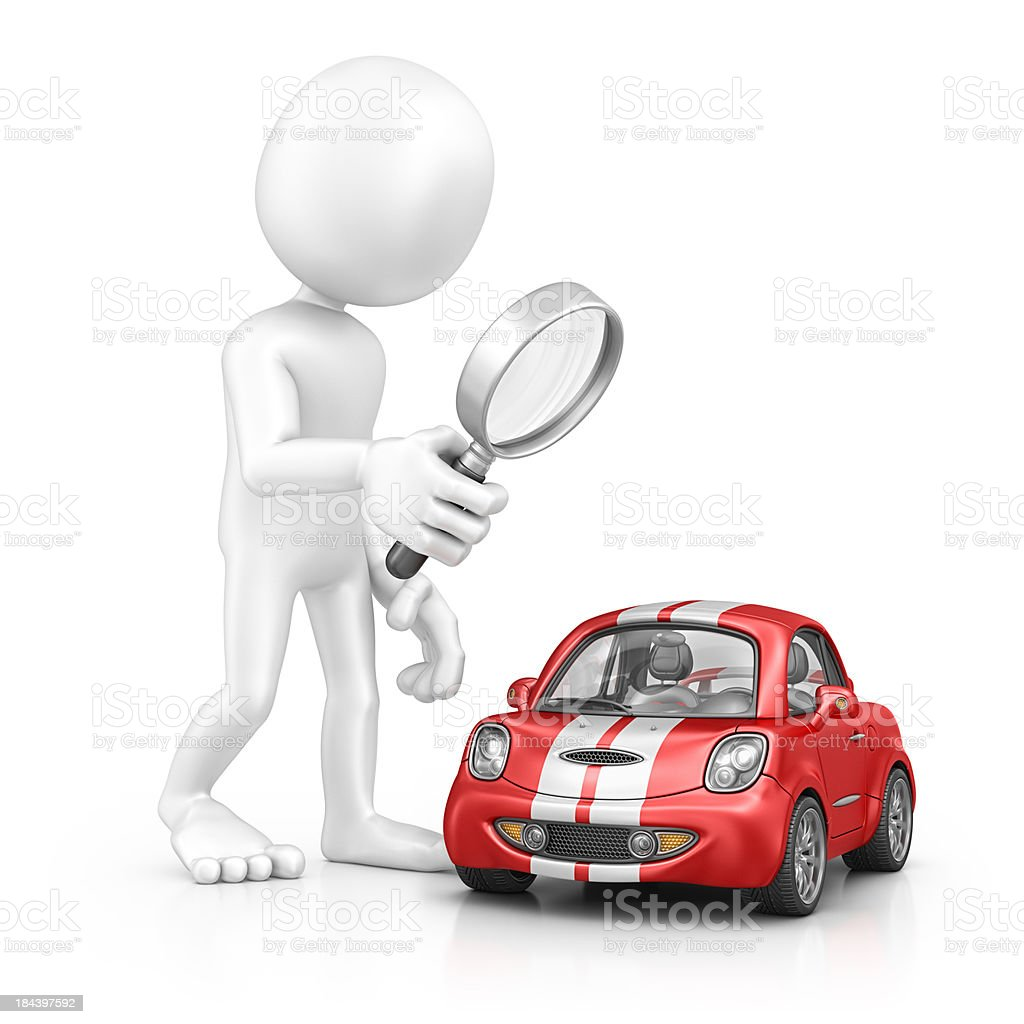 character searching car stock photo