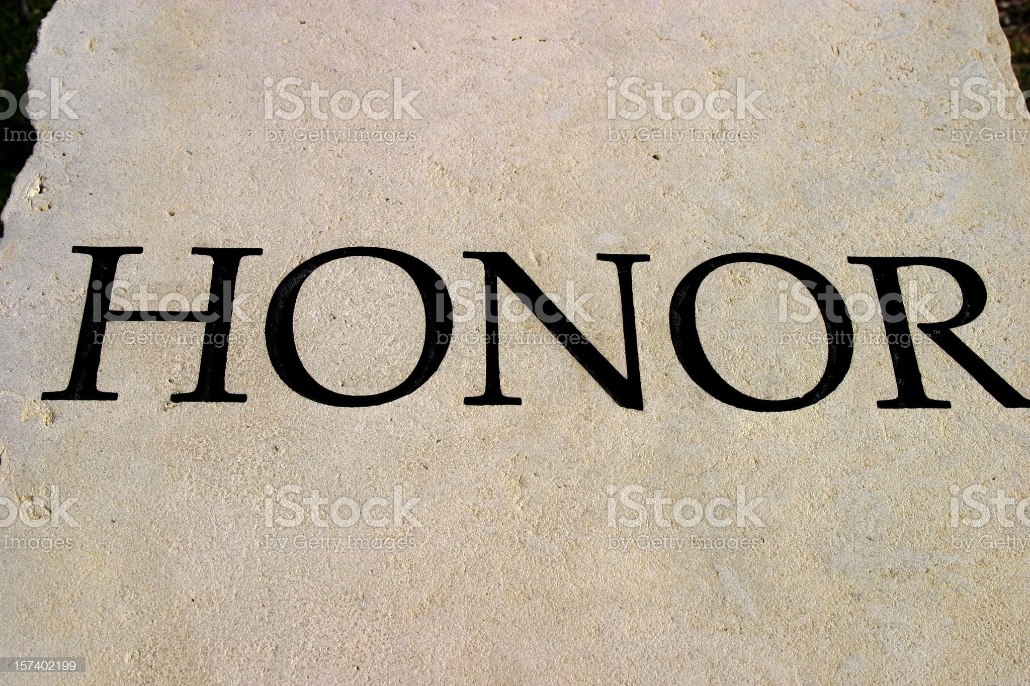 Character traits series - Honor royalty-free stock photo