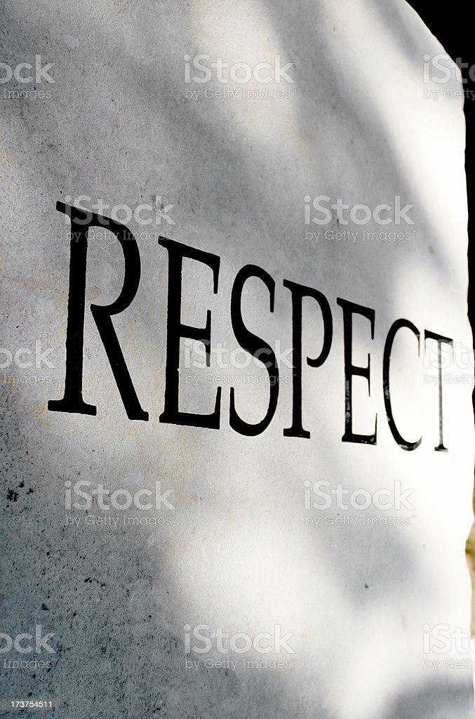 Character traits series - RESPECT royalty-free stock photo