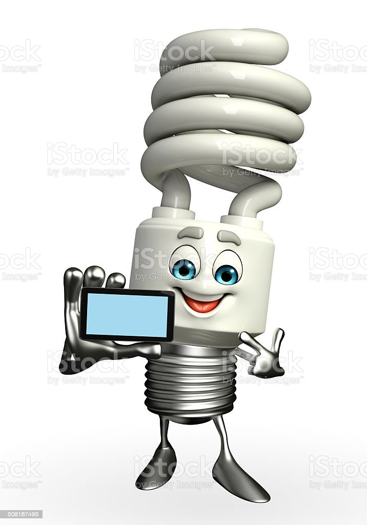 CFL Character with mobile stock photo