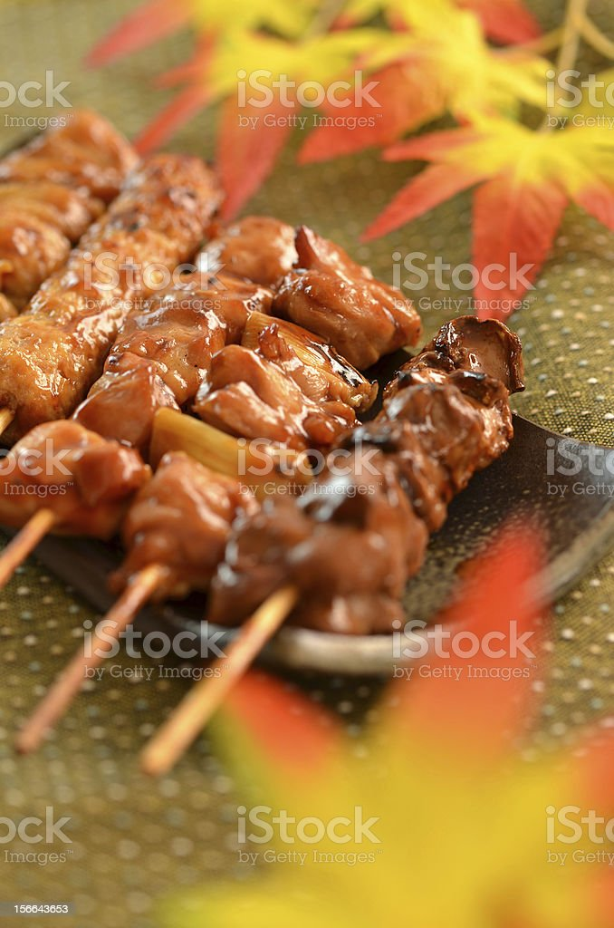 "Char-broiled chicken ""Yakitori"" royalty-free stock photo"