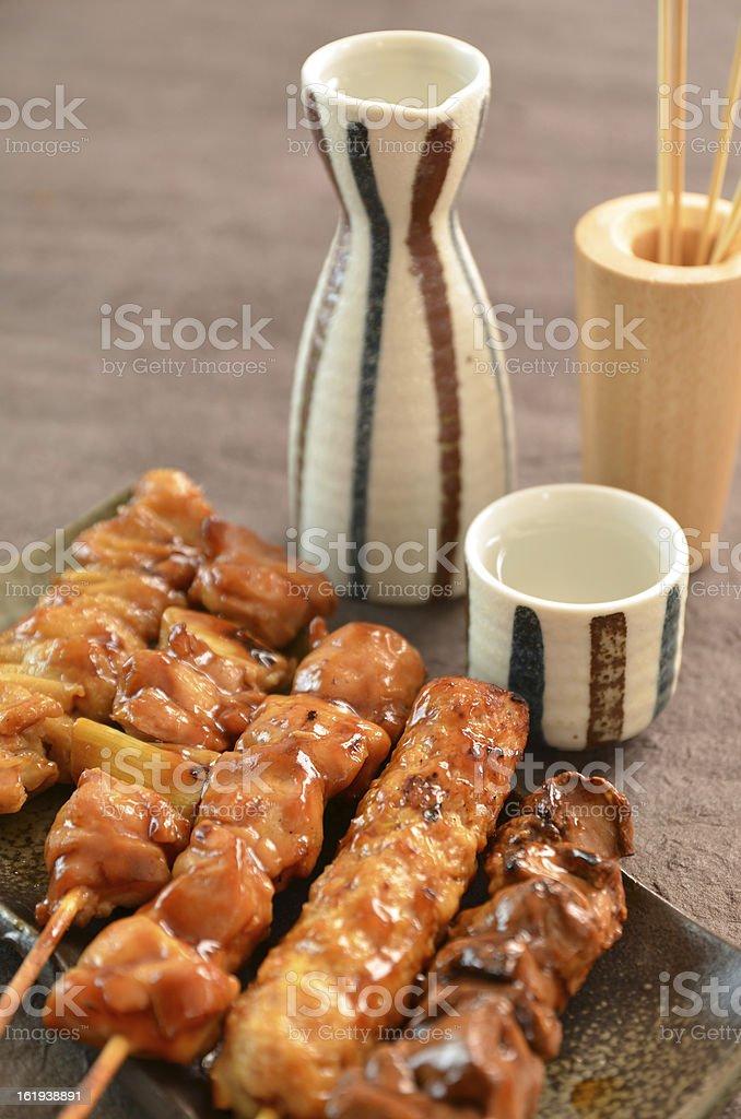 "Char-broiled chicken ""Yakitori"" royalty-free stock photo"