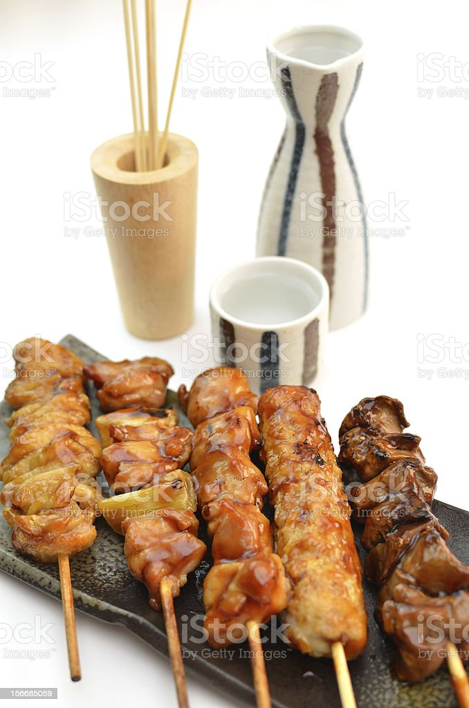 Char-broiled chicken 'Yakitori' royalty-free stock photo