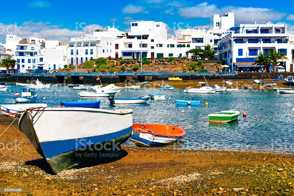 Charco de San Gines, Arrecife, Lanzarote, Canary Islands, Spain stock photo