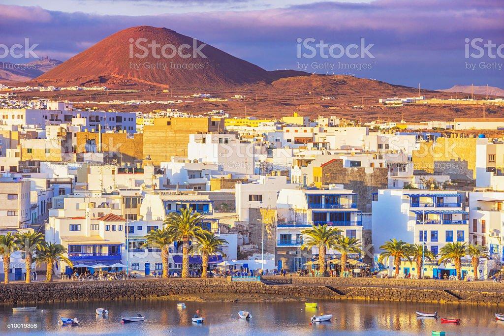 Charco de San Gines in Arrecife, Lanzarote stock photo