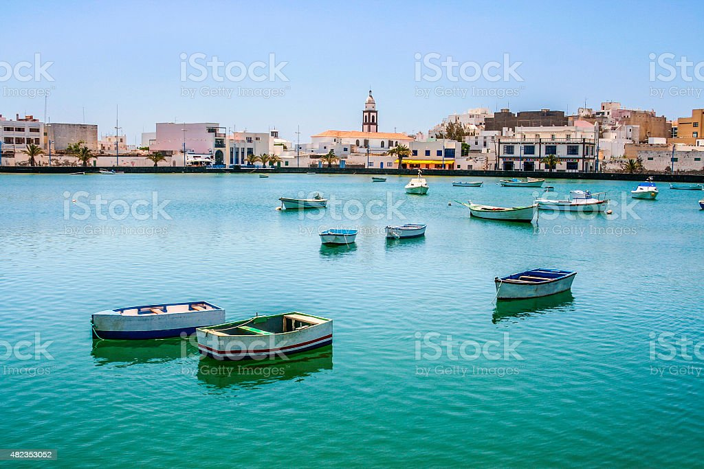 Charco de San Gines on midday in Arrecife stock photo