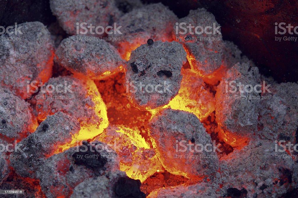 Charcoal Briquette stock photo