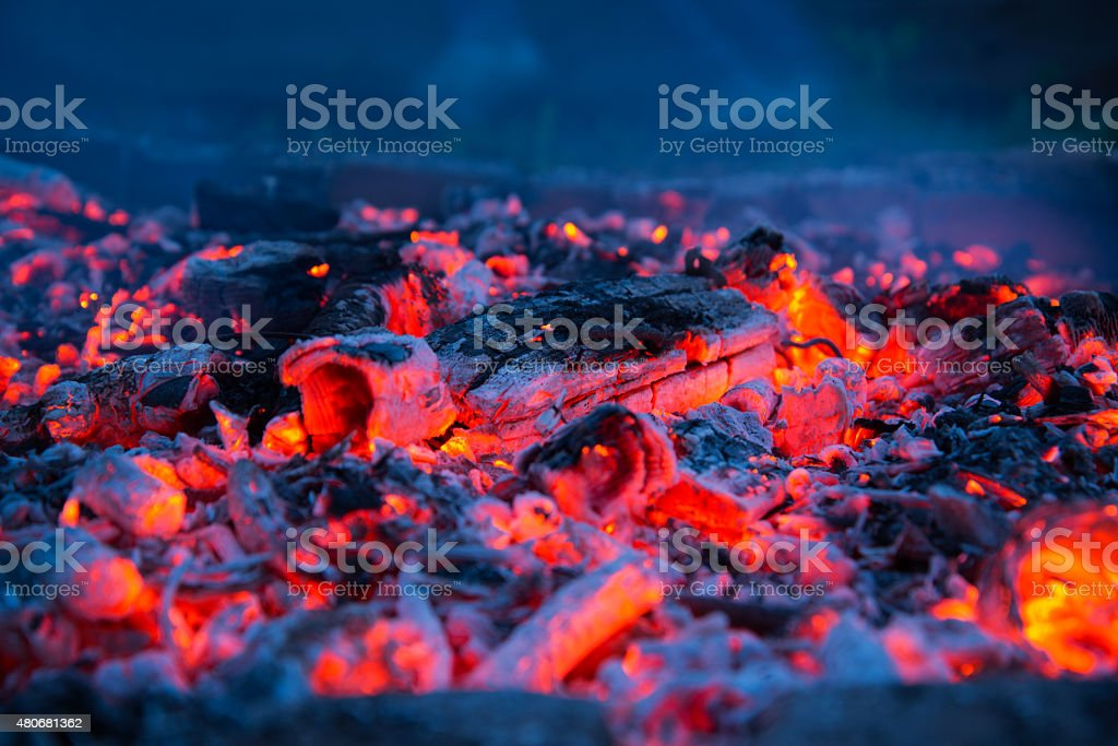 Charcoal close-up stock photo