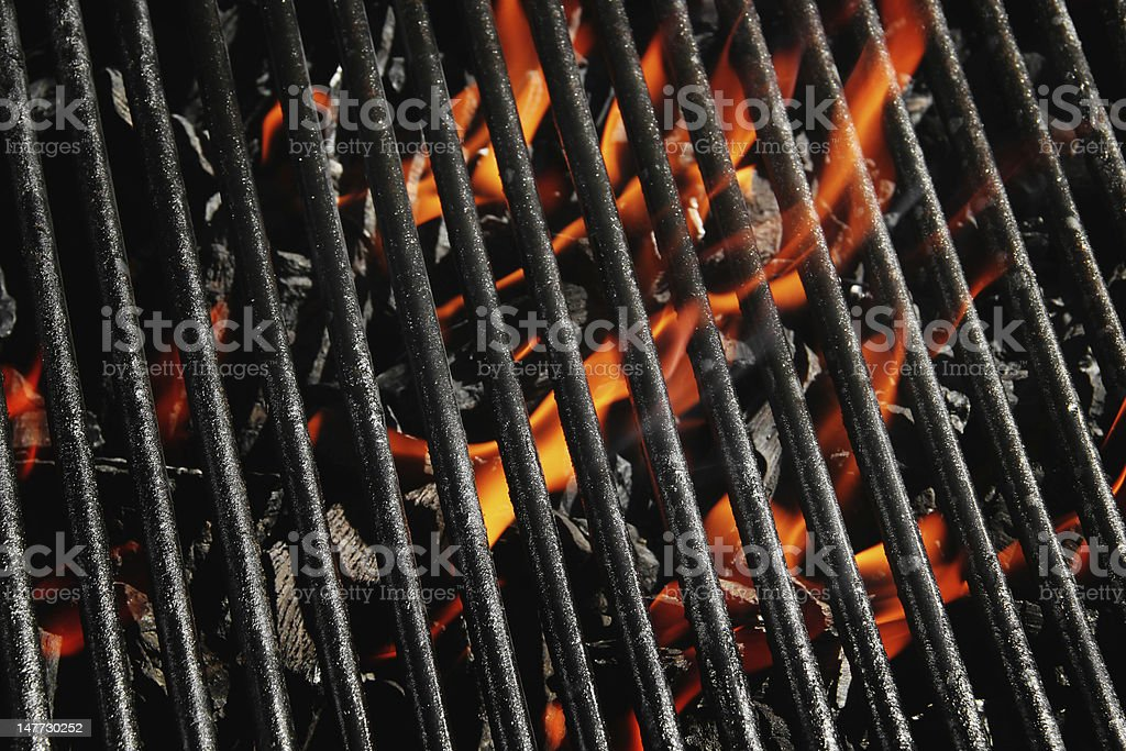 Charcoal fire grill royalty-free stock photo