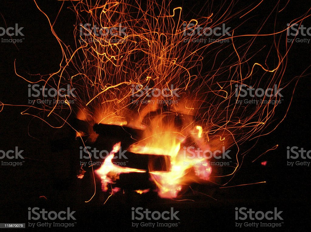 Charcoal Fire i89 royalty-free stock photo