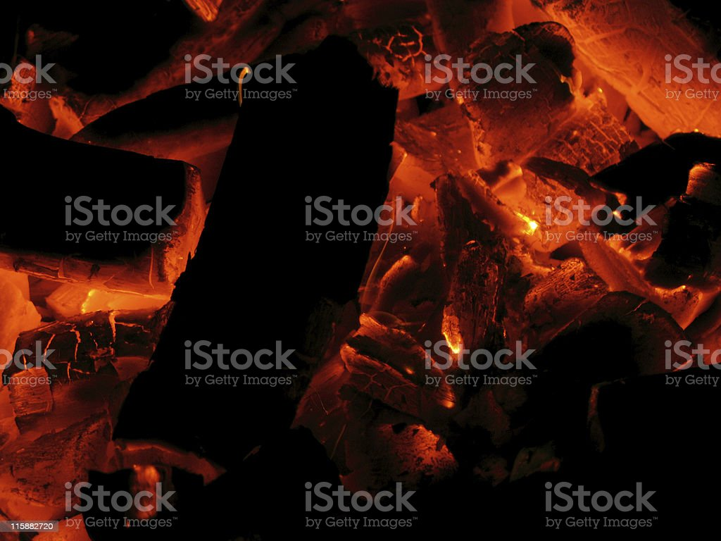 Charcoal Fire royalty-free stock photo