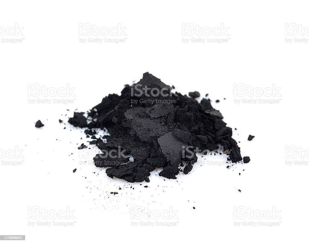 charcoal on a white background stock photo