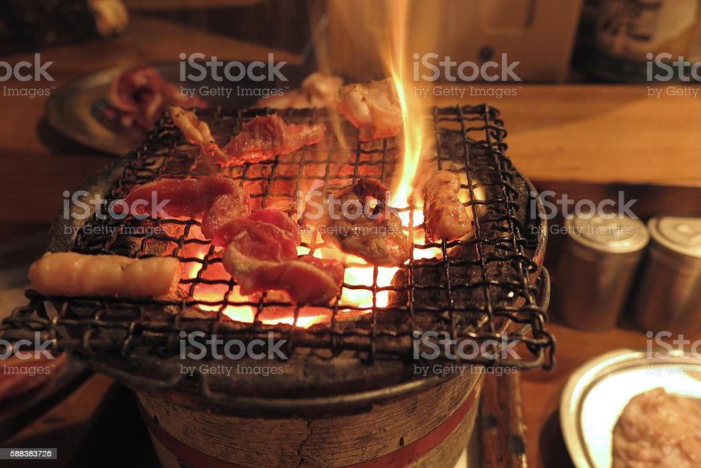 Charcoal stove stock photo