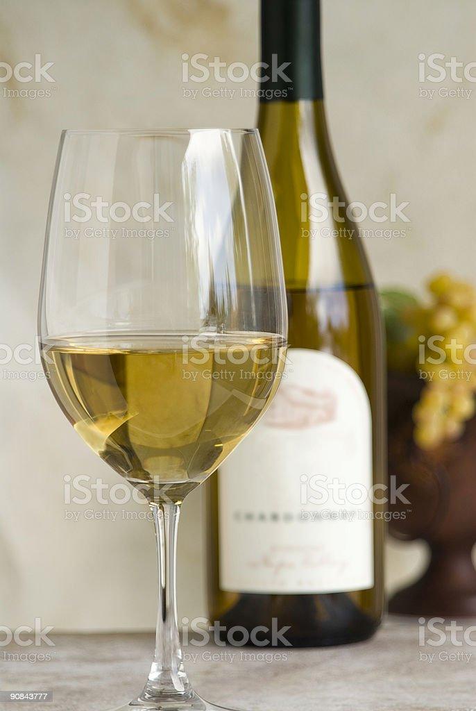 Vino chardonnay foto de stock libre de derechos
