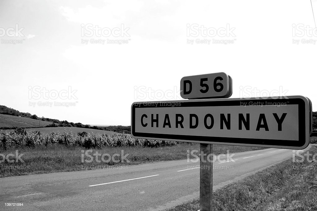 chardonnay sign royalty-free stock photo