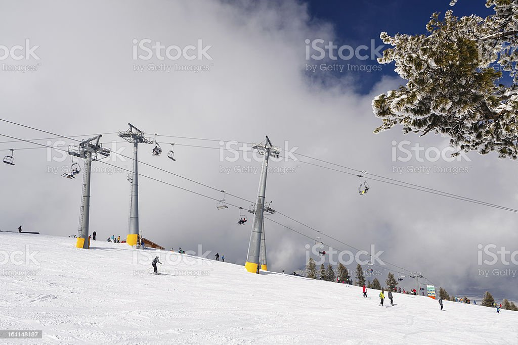 Chare lifts intersection stock photo