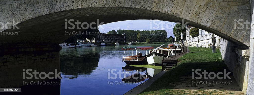 Charente fiume foto stock royalty-free