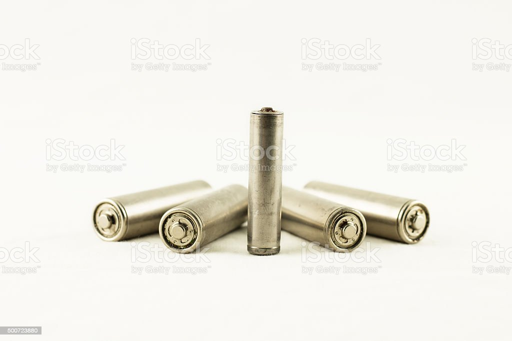 chargeable batteries isolated stock photo
