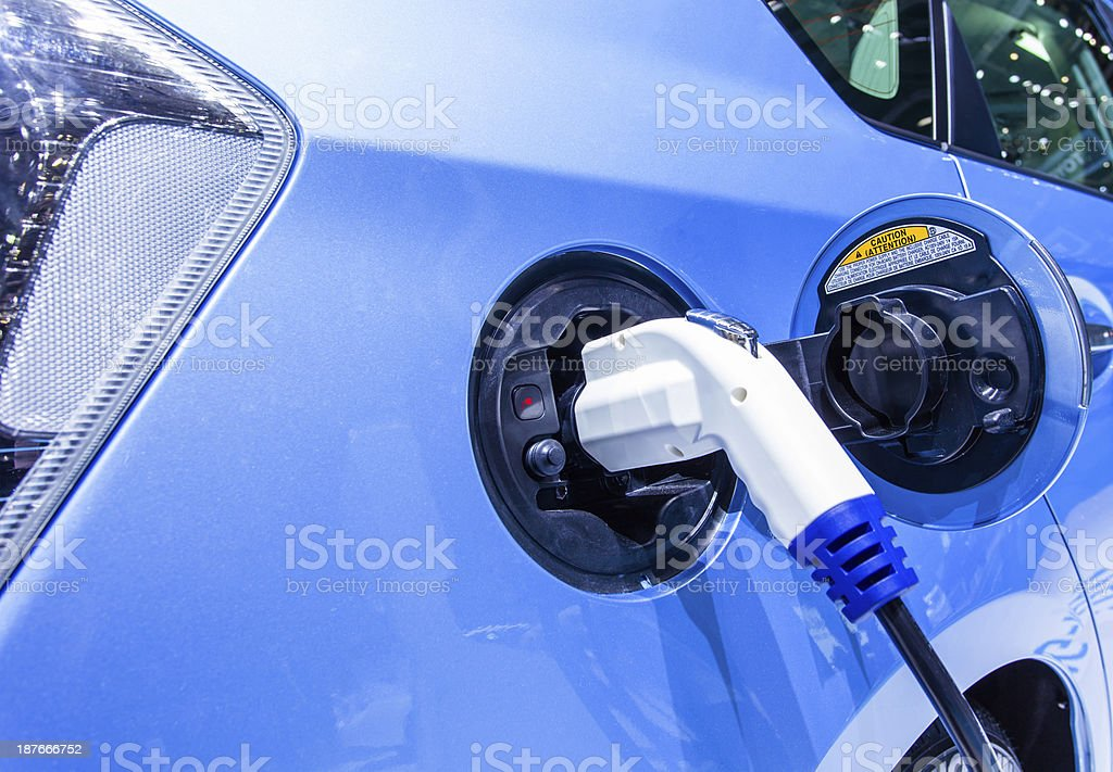 charger plug of hybrid car royalty-free stock photo