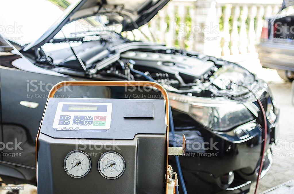 Charging air conditioner stock photo