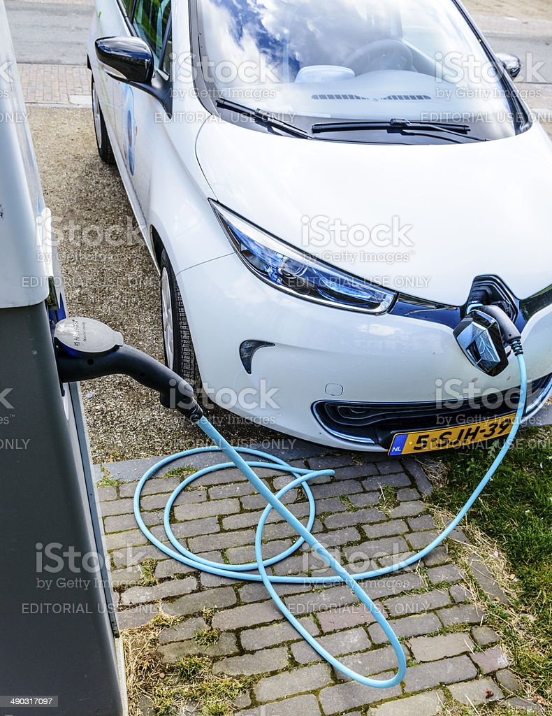 Charging car stock photo