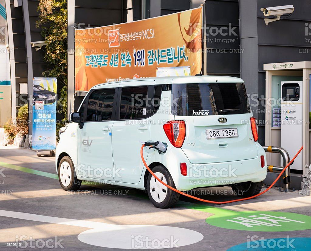 Charging Electric Car royalty-free stock photo