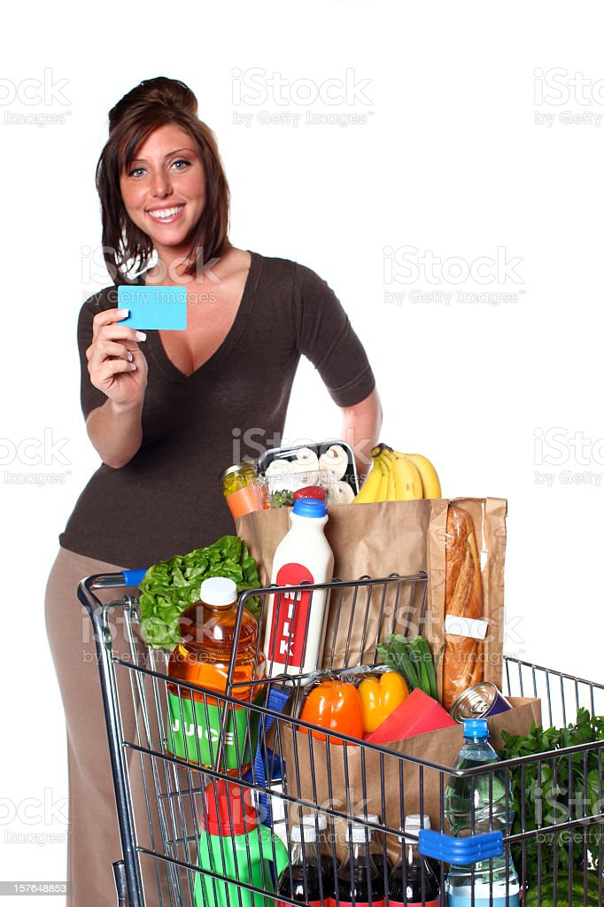 Charging Groceries royalty-free stock photo