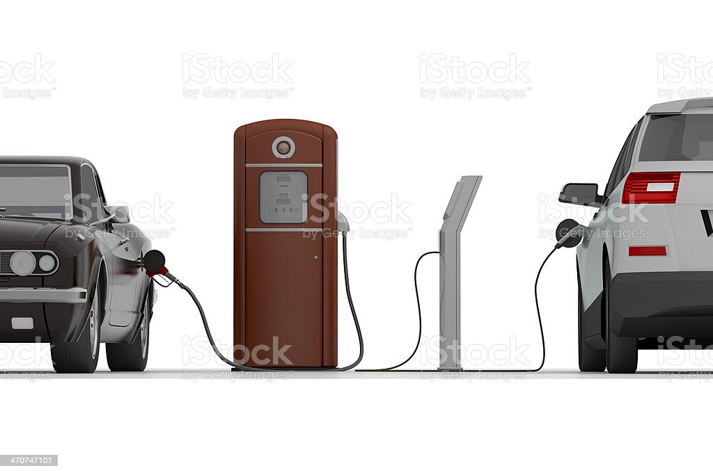 Charging of Cars stock photo