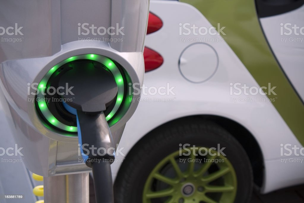 Charging point for electric and hybrid car royalty-free stock photo