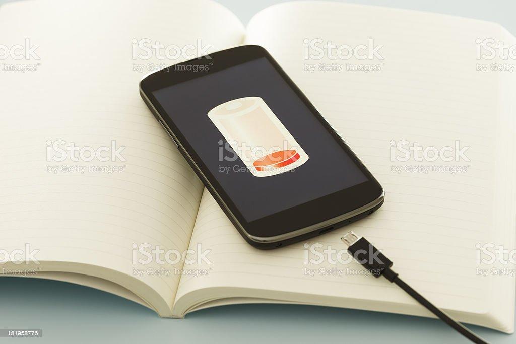 Charging smart phone stock photo