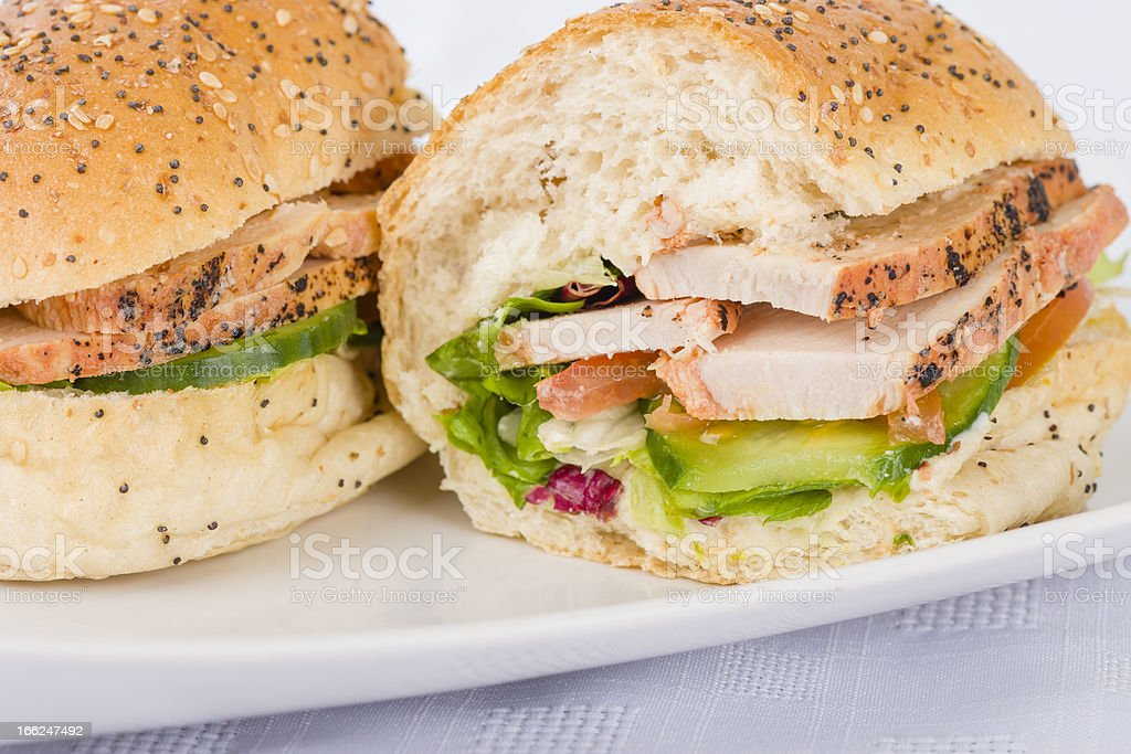 Chargrilled Chicken Sandwich royalty-free stock photo