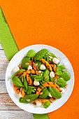 Chargrilled pumpkin, mini mozzarella and spinach salad