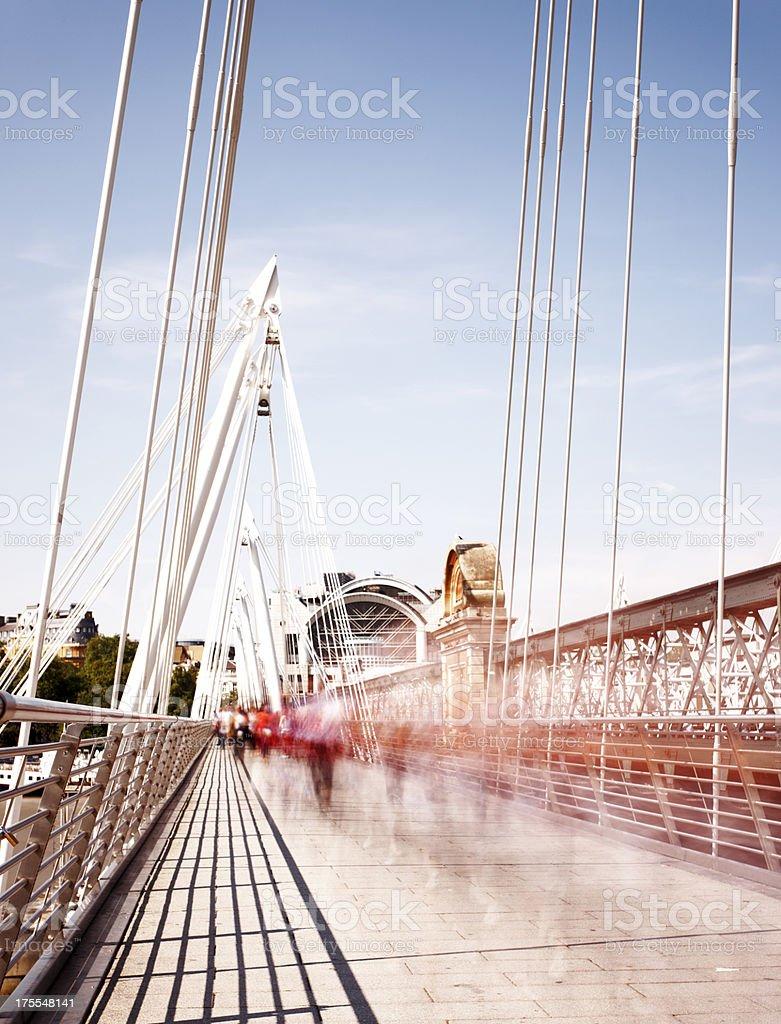 Charing Cross Bridge motion royalty-free stock photo