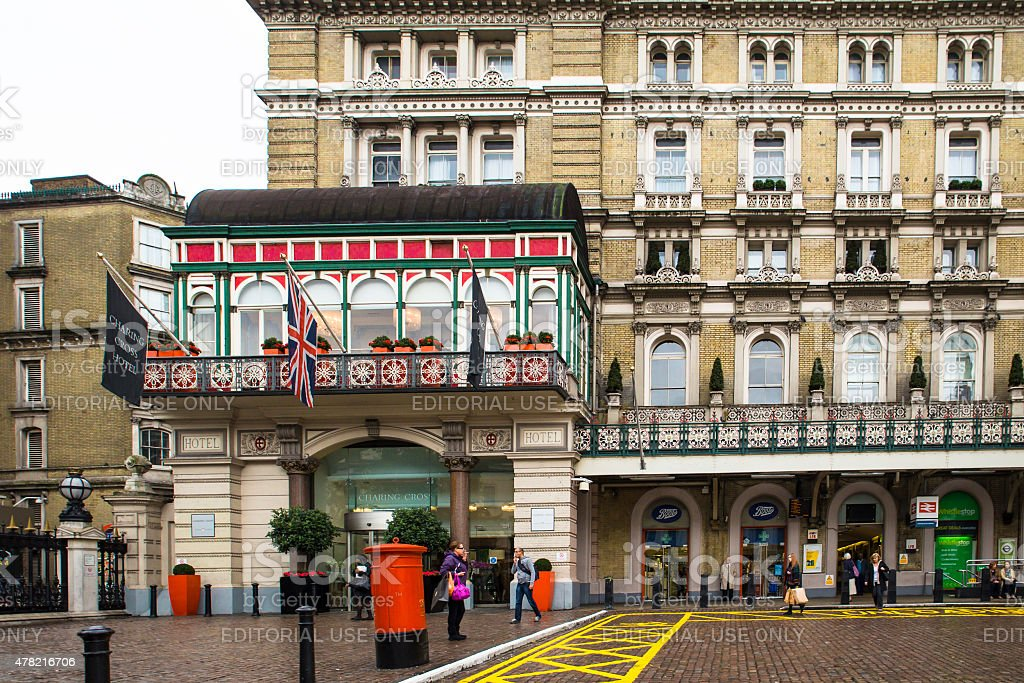 Charing Cross Hotel London stock photo