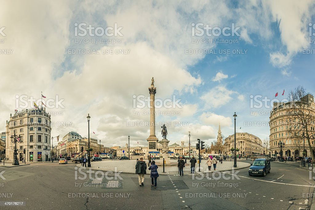 Charing Cross junction south of Trafalgar Square in London royalty-free stock photo